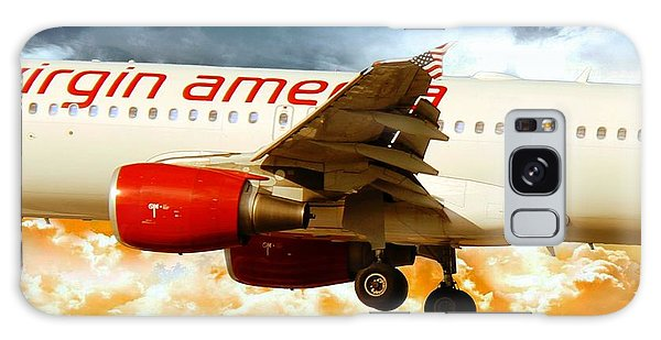 Virgin America A320 Galaxy Case by Aaron Berg