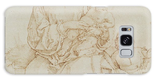 Pen And Ink Drawing Galaxy Case - Virgin And Child With Infant St John by Albrecht Durer or Duerer