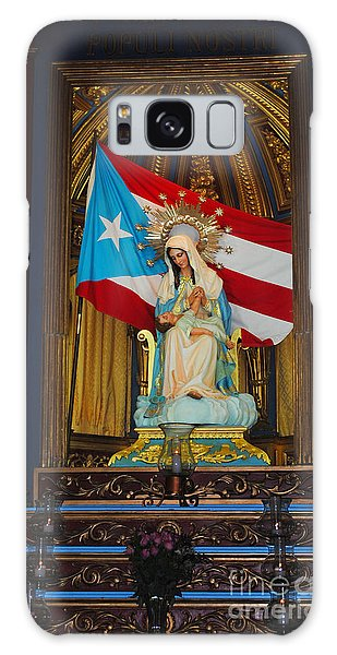 Virgin Mary In Church Galaxy Case