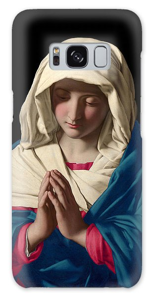 Virgin Mary In Prayer Galaxy Case by Sassoferrato