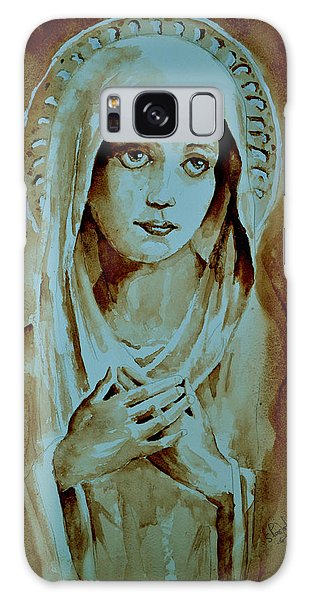 Virgin Mary Galaxy Case by Steven Ponsford