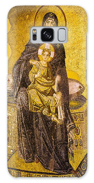 Virgin Mary With Baby Jesus Mosaic Galaxy Case