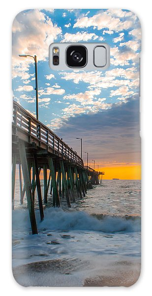 Virginia Beach Pier Into The Sun Galaxy Case