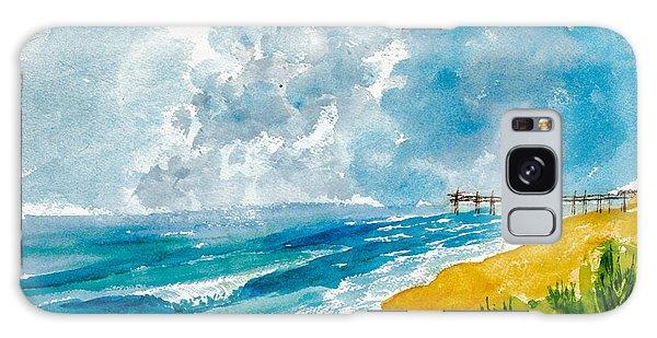 Virginia Beach With Pier Galaxy Case
