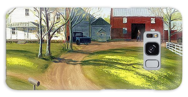 Virginia Farm Countryside Spring Galaxy Case
