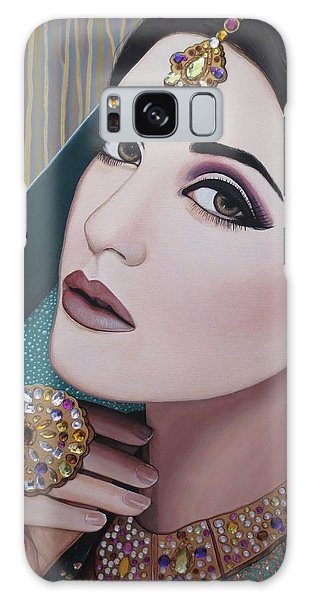 Viridian Indian Beauty Galaxy Case by Malinda Prudhomme
