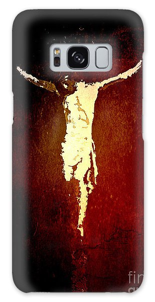 Vision Of Christ Galaxy Case by J Jaiam