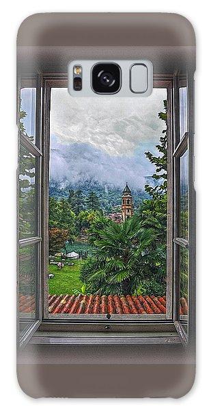 Vision Through The Window Galaxy Case by Hanny Heim