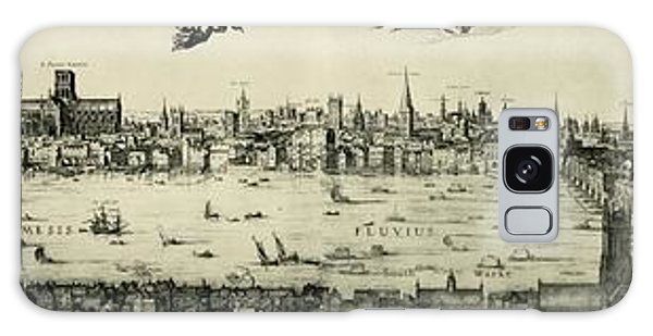 Swan Boats Galaxy Case - Visscher's View Of London by Library Of Congress/science Photo Library