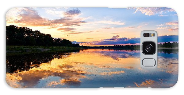 Vistula River Sunset Galaxy Case