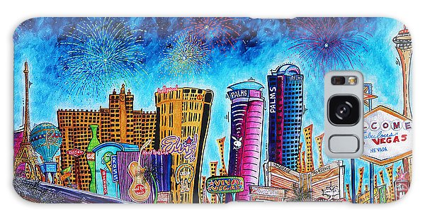 Viva Las Vegas A Fun And Funky Pop Art Painting Of The Vegas Skyline And Sign By Megan Duncanson Galaxy S8 Case