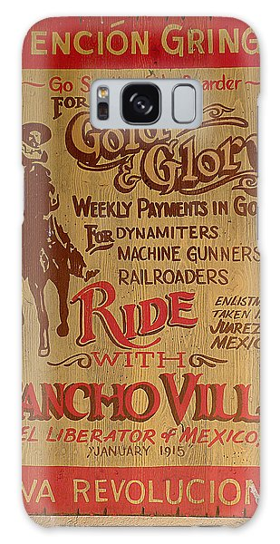 Viva Revolucion - Pancho Villa Galaxy Case by Richard Reeve
