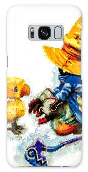 Vivi And The Chocobo Galaxy Case by Joe Misrasi