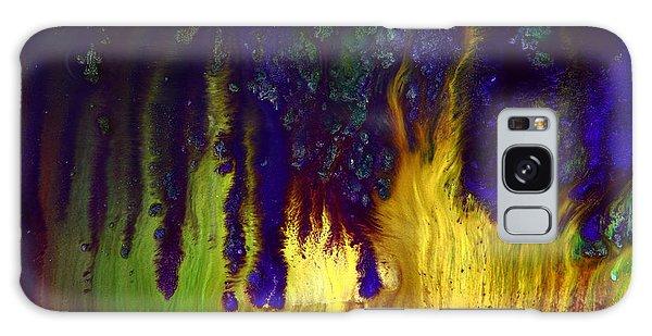 Vivid Abstract Flaming Darkness By Kredart Galaxy Case
