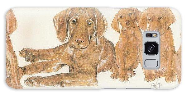 Vizsla Puppies Galaxy Case