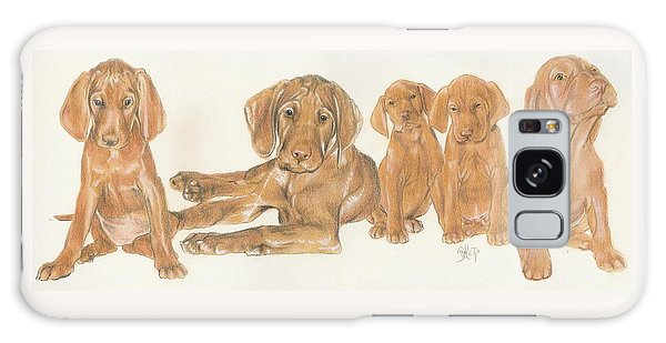 Vizsla Puppies Galaxy Case