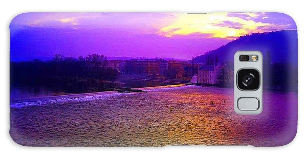 Vltava River Prague Sunset Galaxy Case