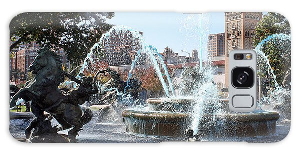 Jc Nichols Memorial Fountain In Blue Galaxy Case by Ellen Tully