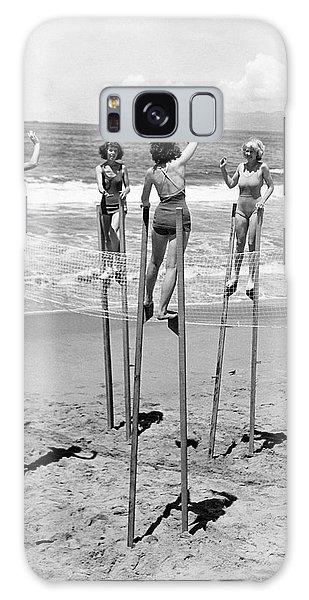 Volleyball On Stilts Galaxy Case