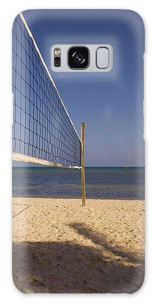 Vollyball Net On The Beach Galaxy Case