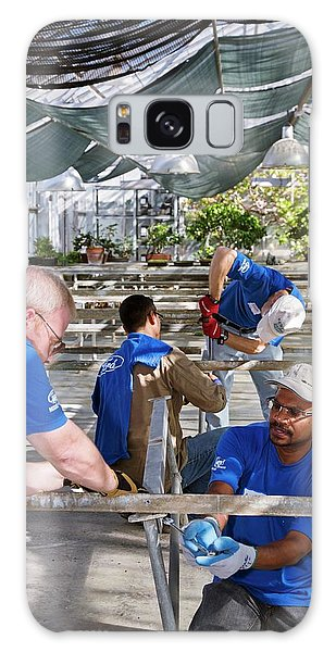 Volunteers At A Botanic Garden Galaxy Case by Jim West