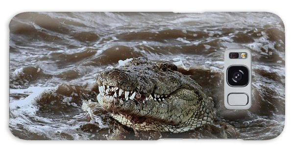 Voracious Crocodile In Water Galaxy Case