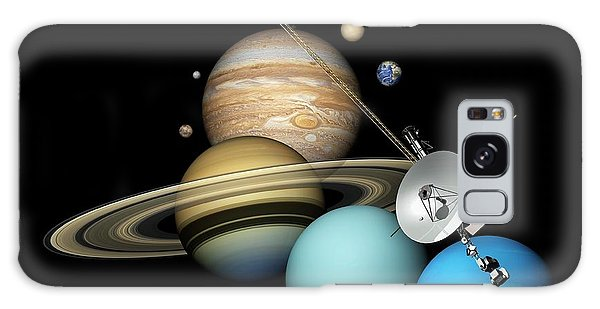 Planets Galaxy Case - Voyager 2 And Planets by Carlos Clarivan