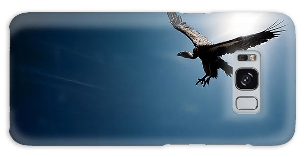 Bright Sun Galaxy Case - Vulture Flying In Front Of The Sun by Johan Swanepoel