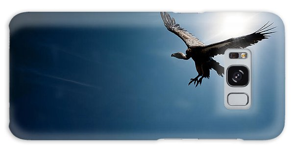 Vulture Flying In Front Of The Sun Galaxy Case by Johan Swanepoel