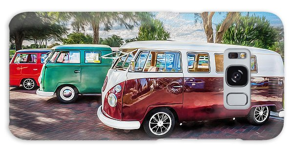 Vw Bus Stop 1964 1961 1968 Vans Trucks Painted Galaxy Case