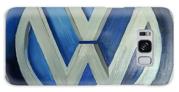 Vw Logo Blue Galaxy Case