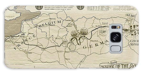 March Galaxy Case - W W I I 89th Division Map by Marilyn Smith