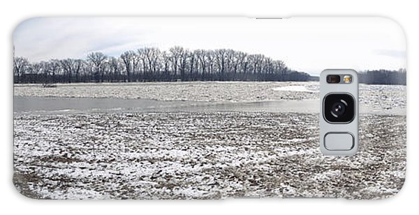 Wabash River Ice Jam Panorama Galaxy Case