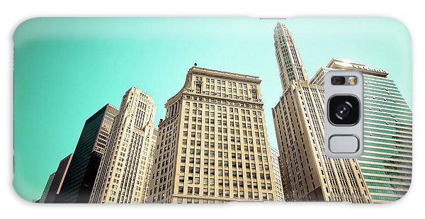 Wacker And Michigan Avenue Chicago Galaxy Case by Linda Matlow