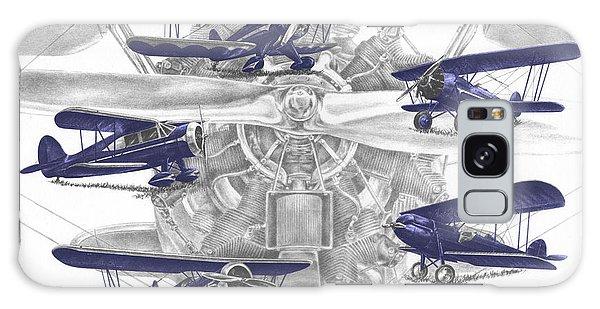 Wacos - Vintage Biplane Aviation Art With Color Galaxy Case