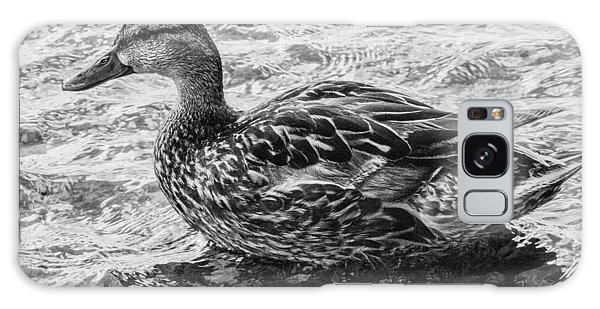 Wading Female Mallard Galaxy Case