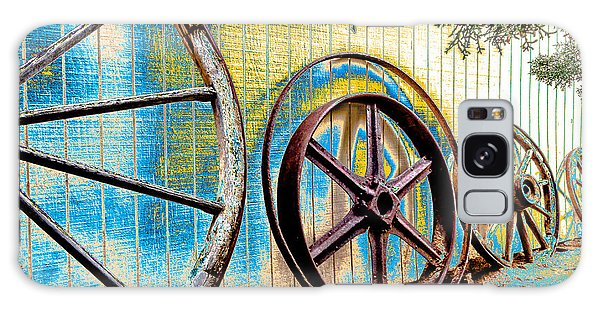 Galaxy Case featuring the photograph Wagon Wheel Art by Beverly Parks