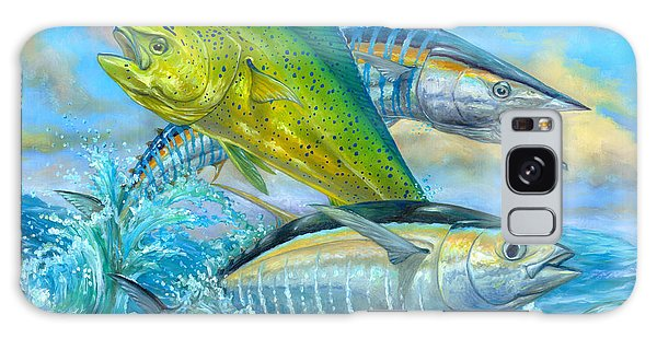Dolphin Galaxy Case - Wahoo Mahi Mahi And Tuna by Terry  Fox