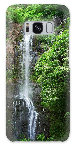 Waikani Falls At Wailua Maui Hawaii Galaxy Case by Connie Fox
