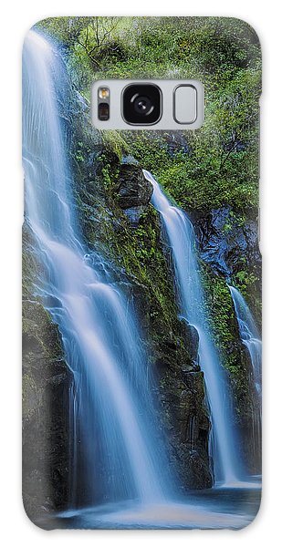 Waikani Falls Galaxy Case by Hawaii  Fine Art Photography
