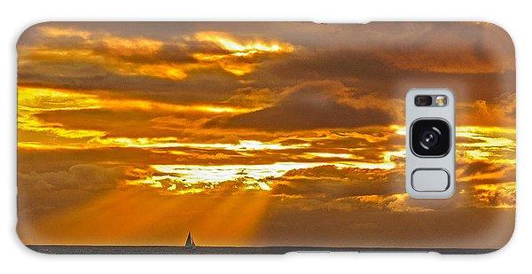 Waikiki Sun Set Galaxy Case by John Johnson