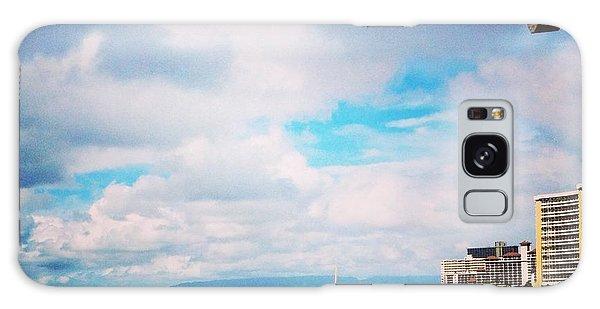 Waikiki Walls View Galaxy Case by Erika Swartzkopf