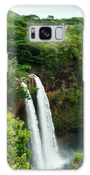 Wailua Falls Kauai Galaxy Case