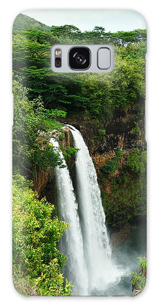 Wailua Falls Kauai Galaxy Case by Photography  By Sai