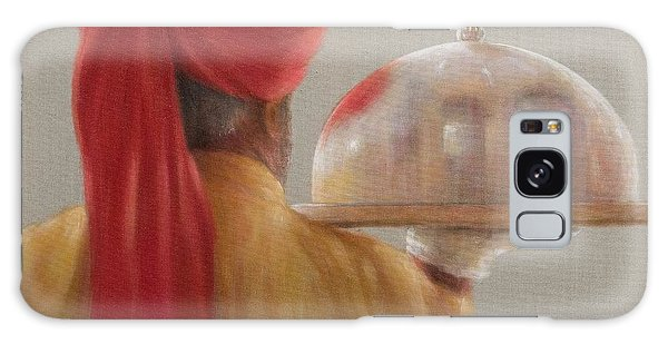 Turban Galaxy Case - Waiter, Rambagh Palace, 2010 Acrylic On Canvas by Lincoln Seligman