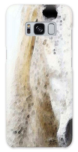 White Horse Galaxy Case - Horse Art - Waiting 2 - By Sharon Cummings by Sharon Cummings