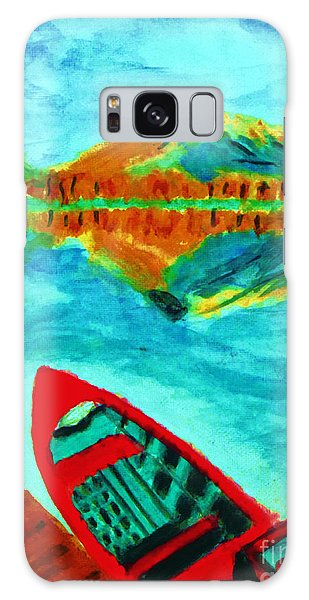 Waiting Boat Of Alberta Canada Galaxy Case