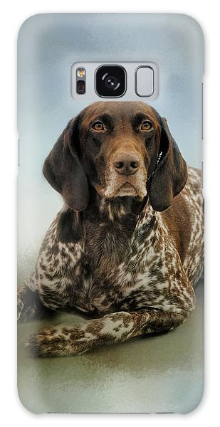 Waiting For A Cue - German Shorthaired Pointer Galaxy Case