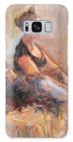 Waiting For Her Moment - Impressionist Oil Painting Galaxy Case
