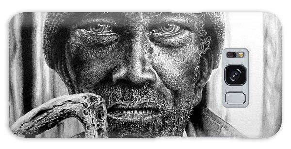 Man With Cane Galaxy Case by Geni Gorani